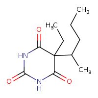2D chemical structure of 76-74-4